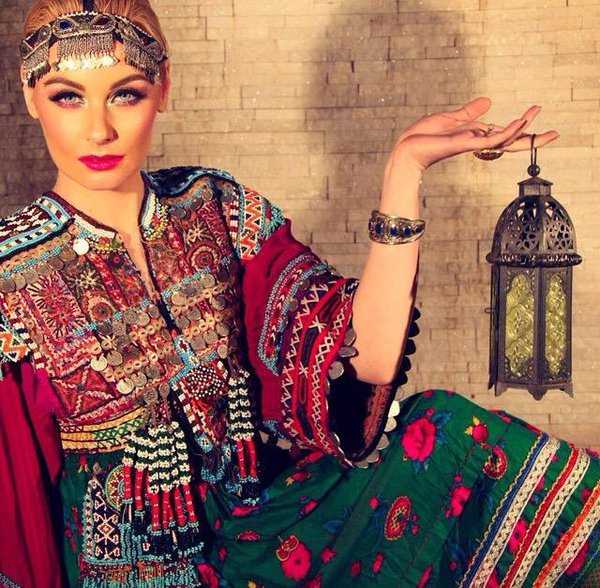 Traditional Afghanistan clothing for the afghan Women